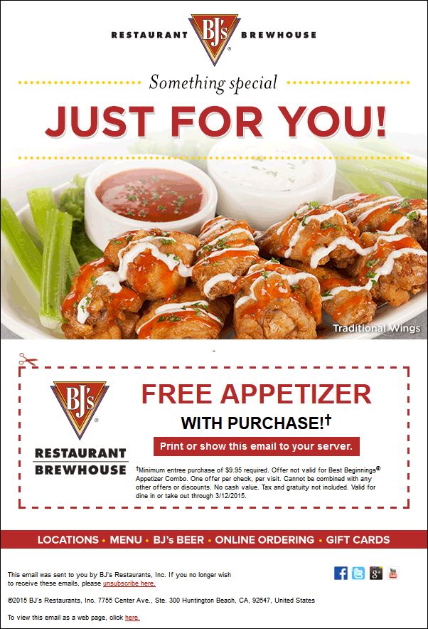 Bjs Free Appetizer