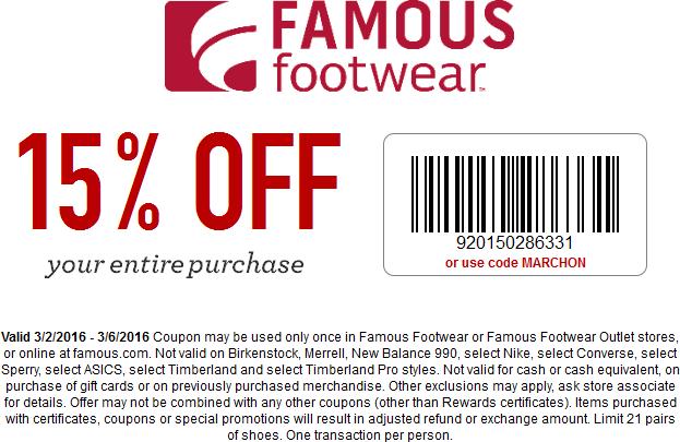 Today's Best Famous Footwear Deals