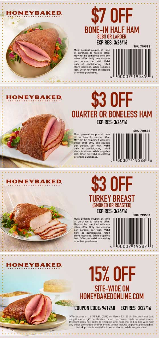 HoneyBaked coupons & promo code for [July 2020]