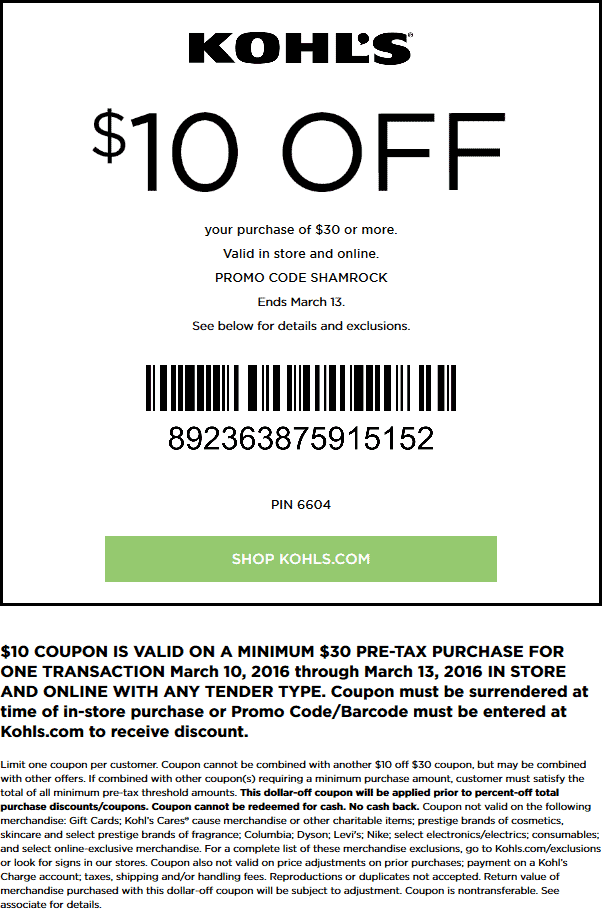 kohls coupons june 2019