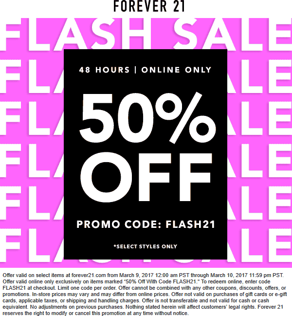 FOREVER 21 ONLINE COUPON