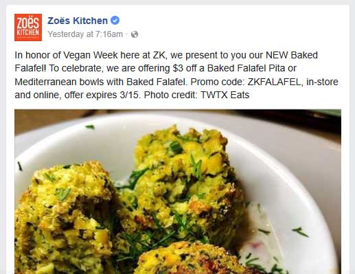 Zoes Kitchen May 2021 Coupons And Promo Codes