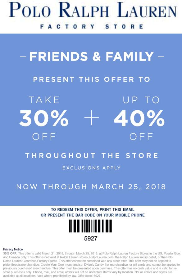 ralph lauren coupon 2019 in store