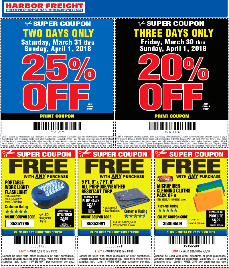 Harbor Freight Tools Coupon & Promo Codes