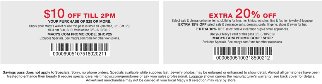 Macys Coupon July 2020 $10 off $25 & more at Macys, or online via promo code SHOP25