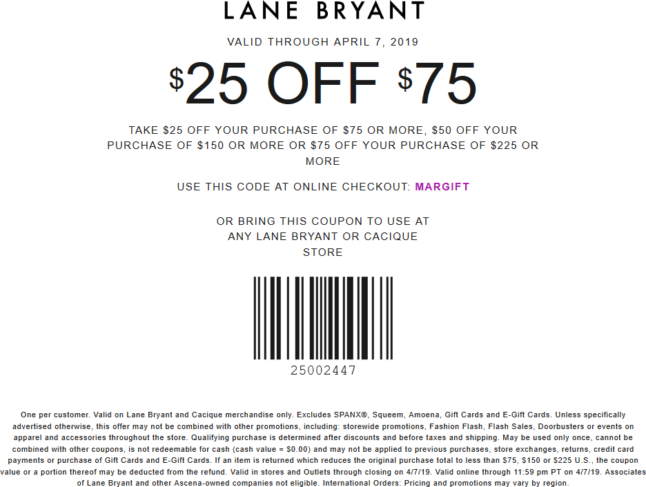 Lane Bryant coupons & promo code for [April 2021]