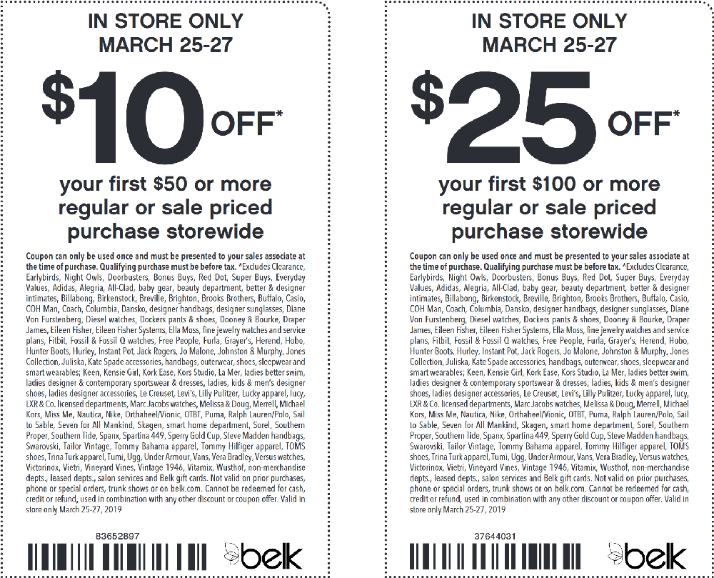 Belk coupons & promo code for [January 2021]