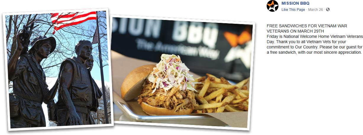 MISSION BBQ coupons & promo code for [October 2020]