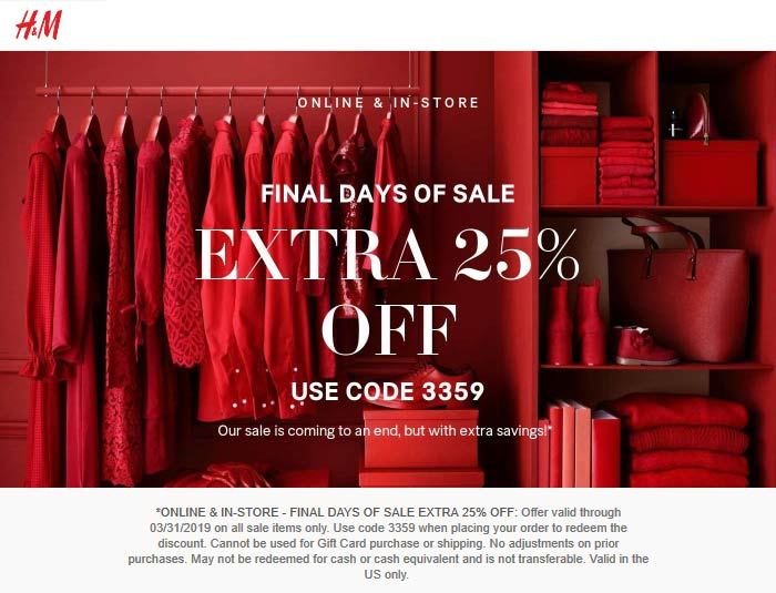 H&M coupons & promo code for [January 2021]