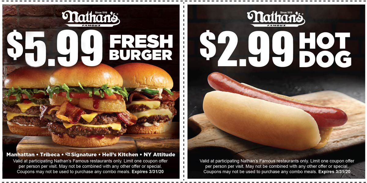 Nathans Famous coupons & promo code for [July 2020]