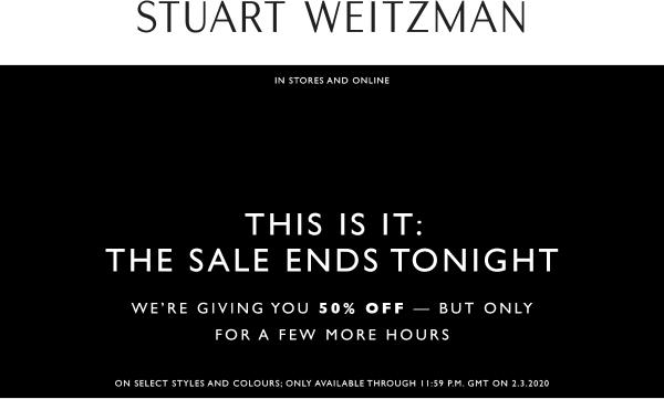 Stuart Weitzman coupons & promo code for [July 2020]