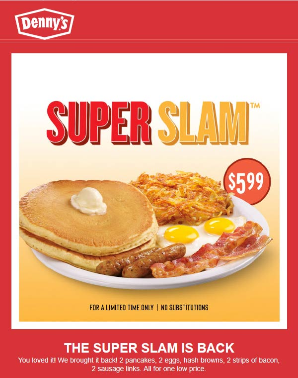 Dennys coupons & promo code for [September 2020]