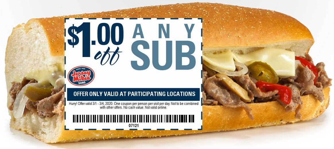 Jersey Mikes coupons & promo code for [October 2020]