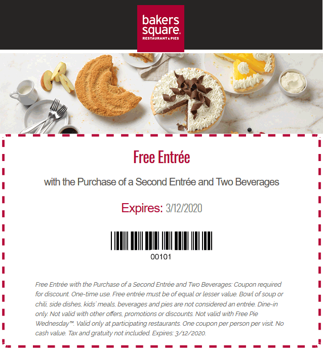 Bakers Square coupons & promo code for [May 2021]