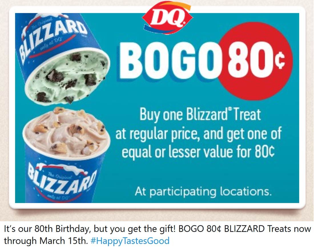 Dairy Queen coupons & promo code for [April 2021]