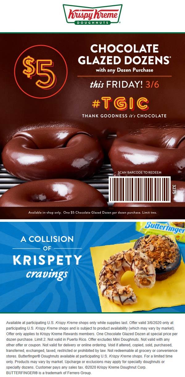 Krispy Kreme coupons & promo code for [February 2021]