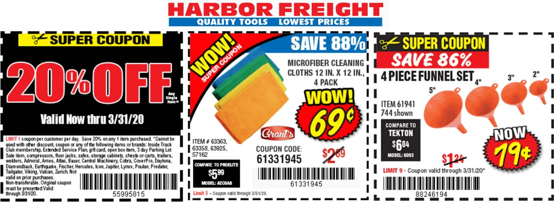 Harbor Freight coupons & promo code for [July 2020]
