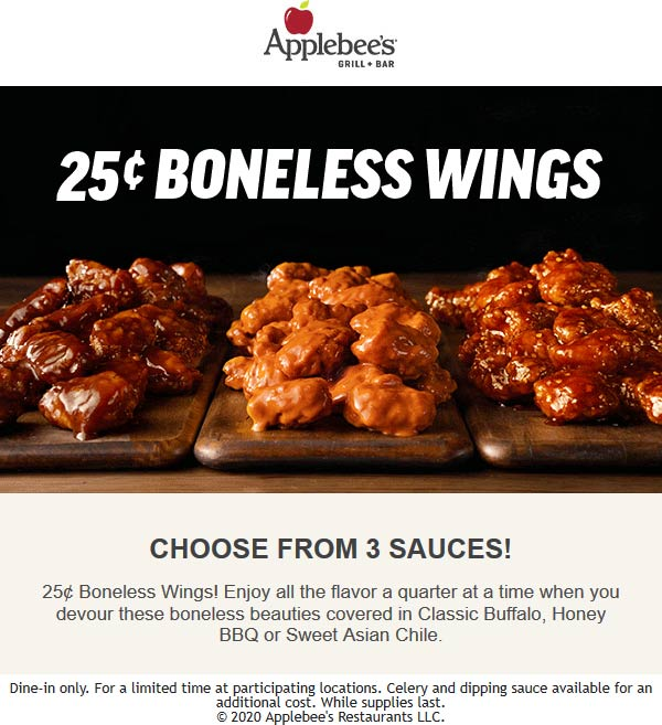 Applebees coupons & promo code for [April 2021]