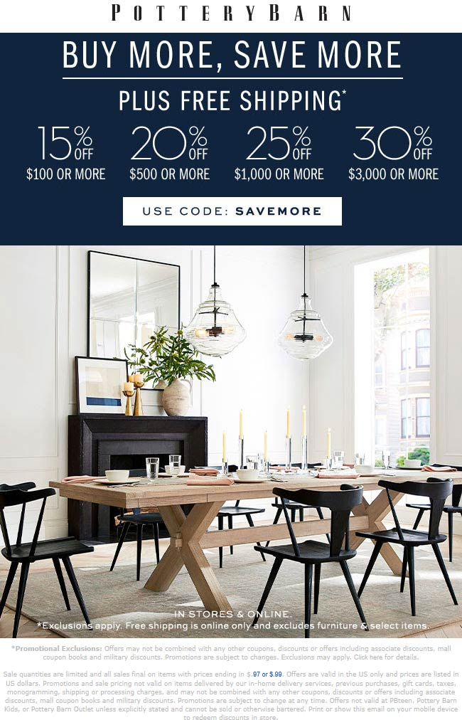 Pottery Barn coupons & promo code for [December 2020]