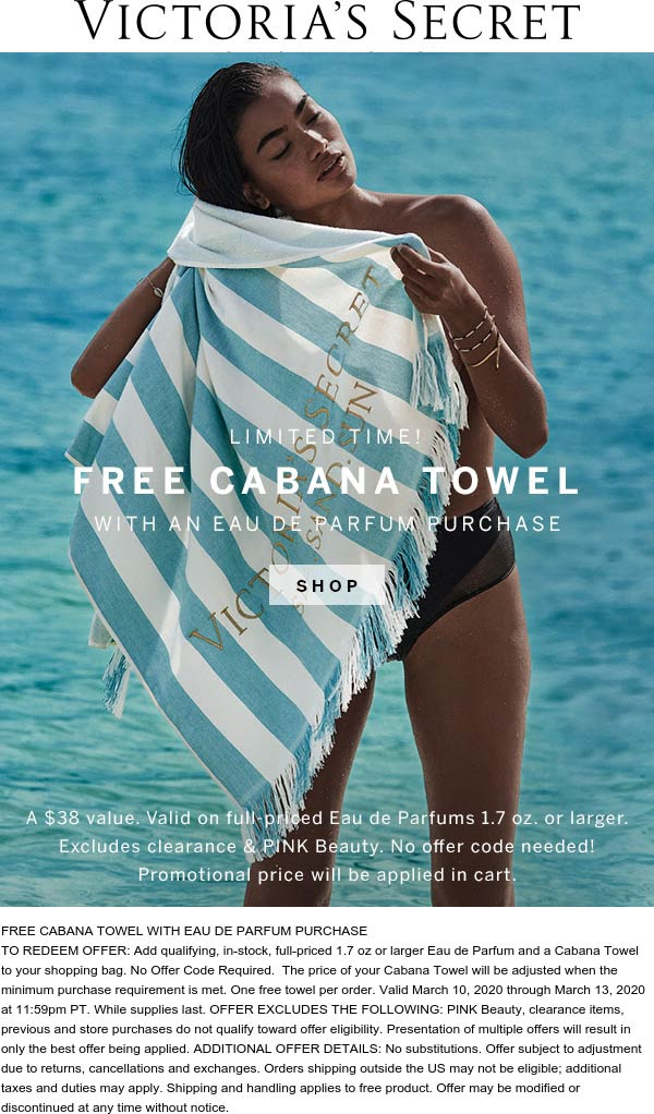 Victorias Secret coupons & promo code for [October 2020]