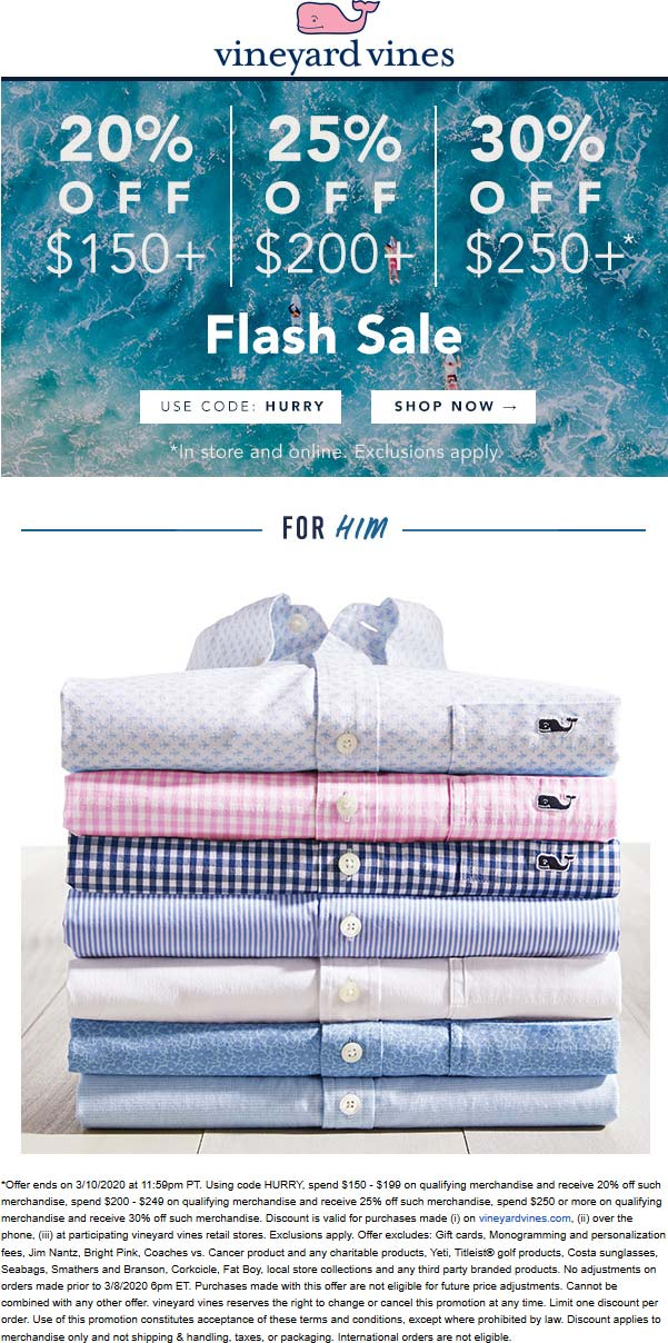 Vineyard Vines coupons & promo code for [July 2020]