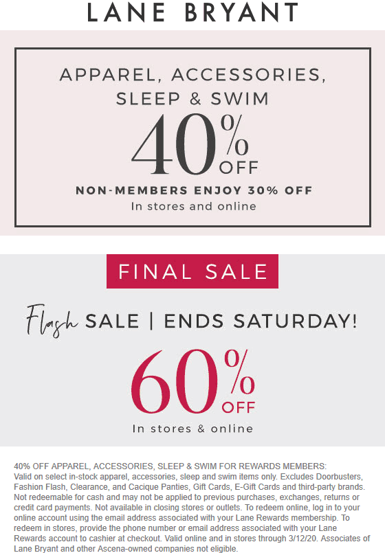 Lane Bryant coupons & promo code for [February 2021]