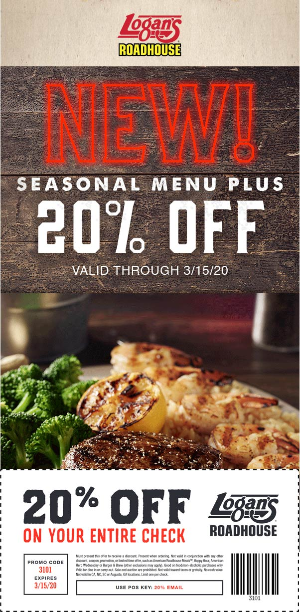 Logans Roadhouse coupons & promo code for [July 2020]