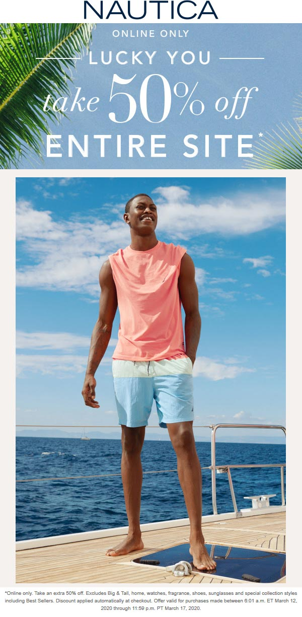 Nautica coupons & promo code for [October 2020]