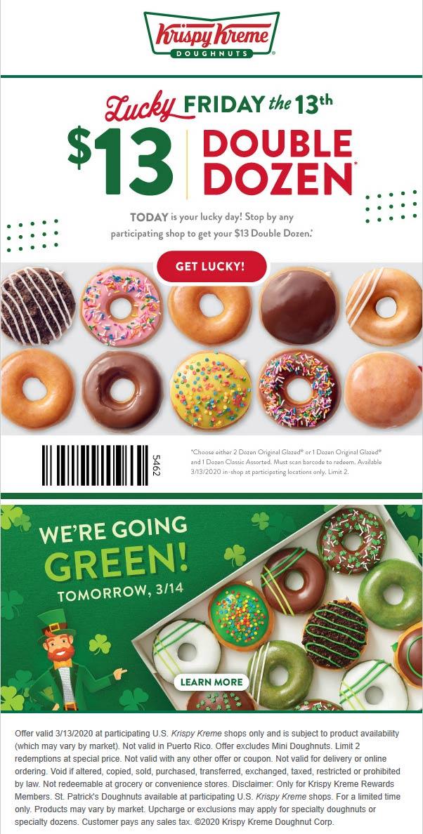 Krispy Kreme coupons & promo code for [August 2020]