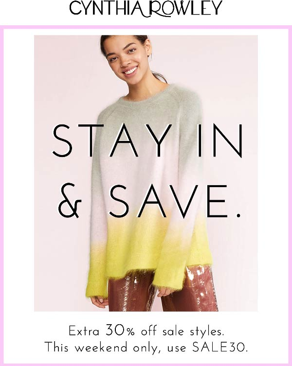 Cynthia Rowley coupons & promo code for [July 2020]