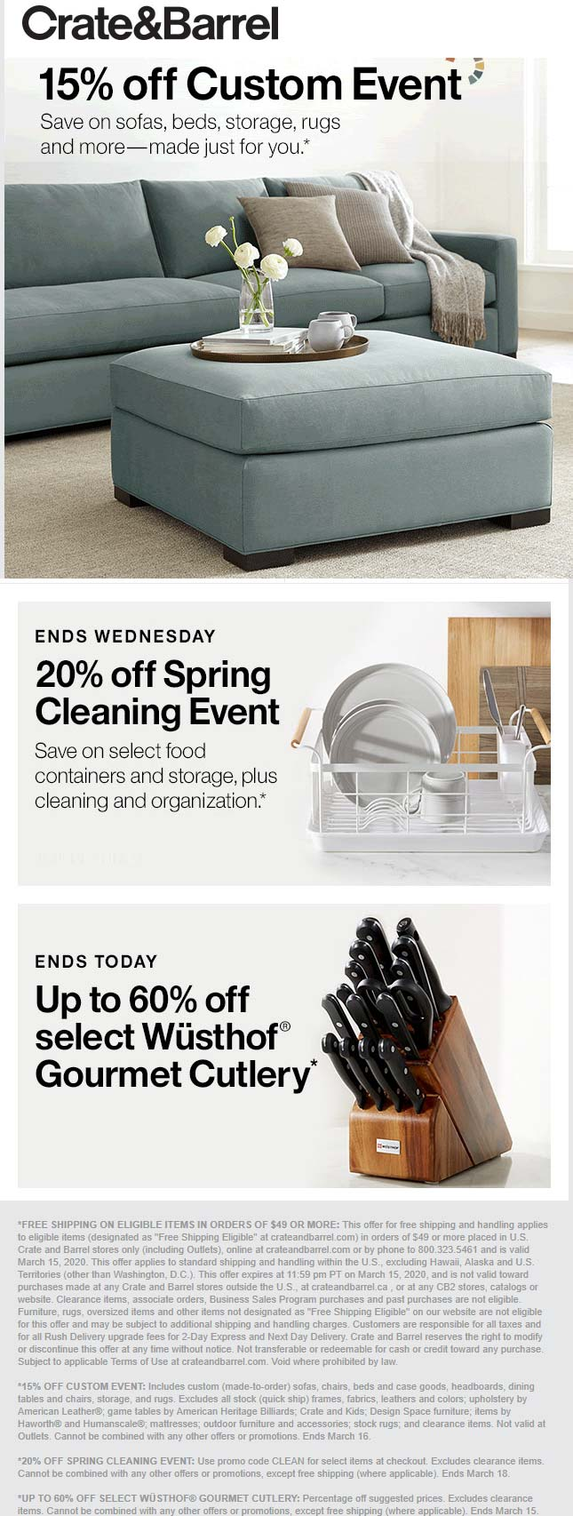 Crate & Barrel coupons & promo code for [April 2020]