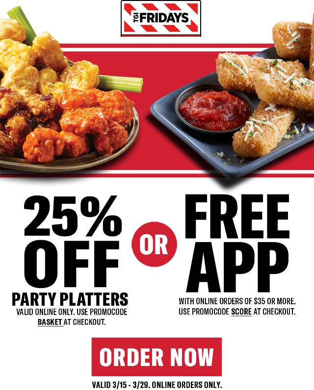 TGI Fridays coupons & promo code for [December 2020]