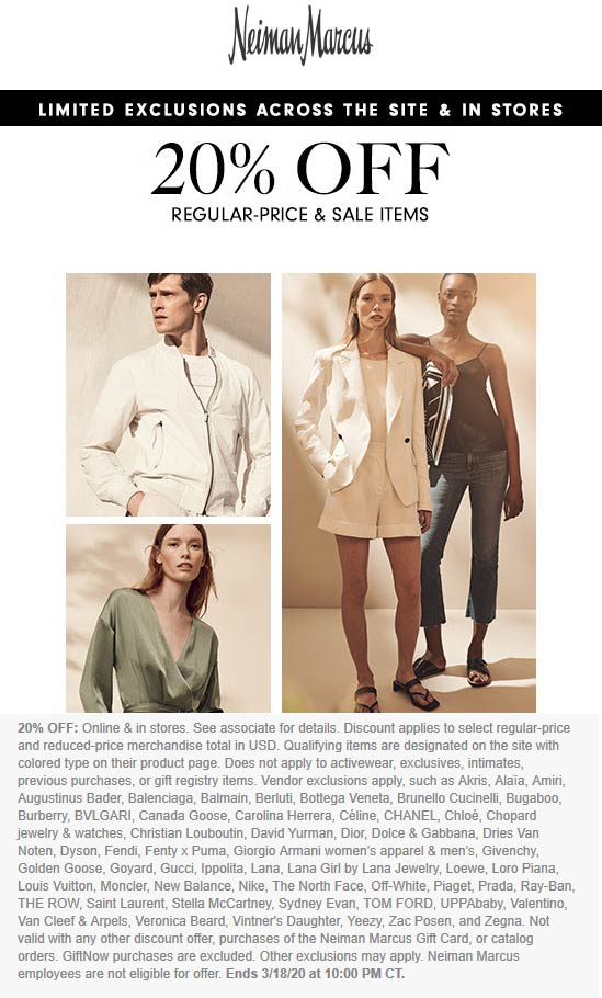 Neiman Marcus coupons & promo code for [April 2021]