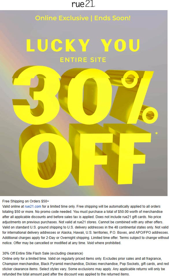 Rue21 coupons & promo code for [July 2020]