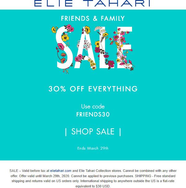 Elie Tahari coupons & promo code for [April 2020]