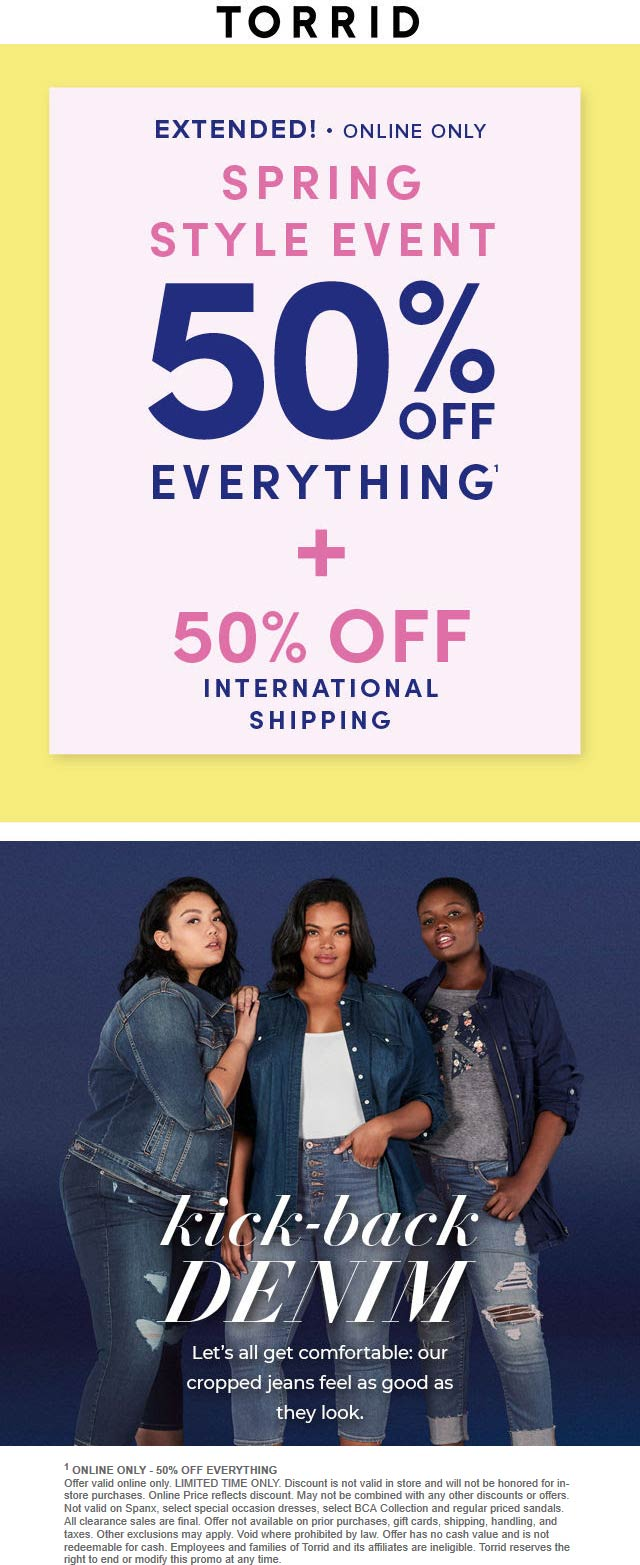 Torrid coupons & promo code for [January 2021]