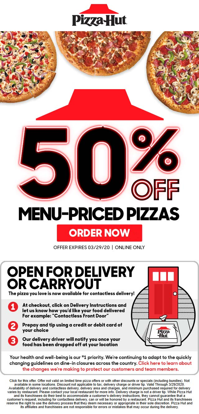 Pizza Hut November 2020 Coupons And Promo Codes
