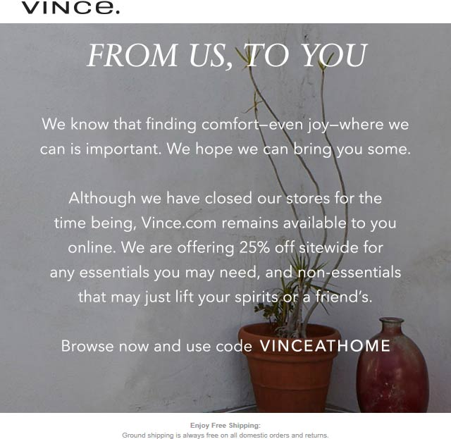 Vince coupons & promo code for [January 2021]