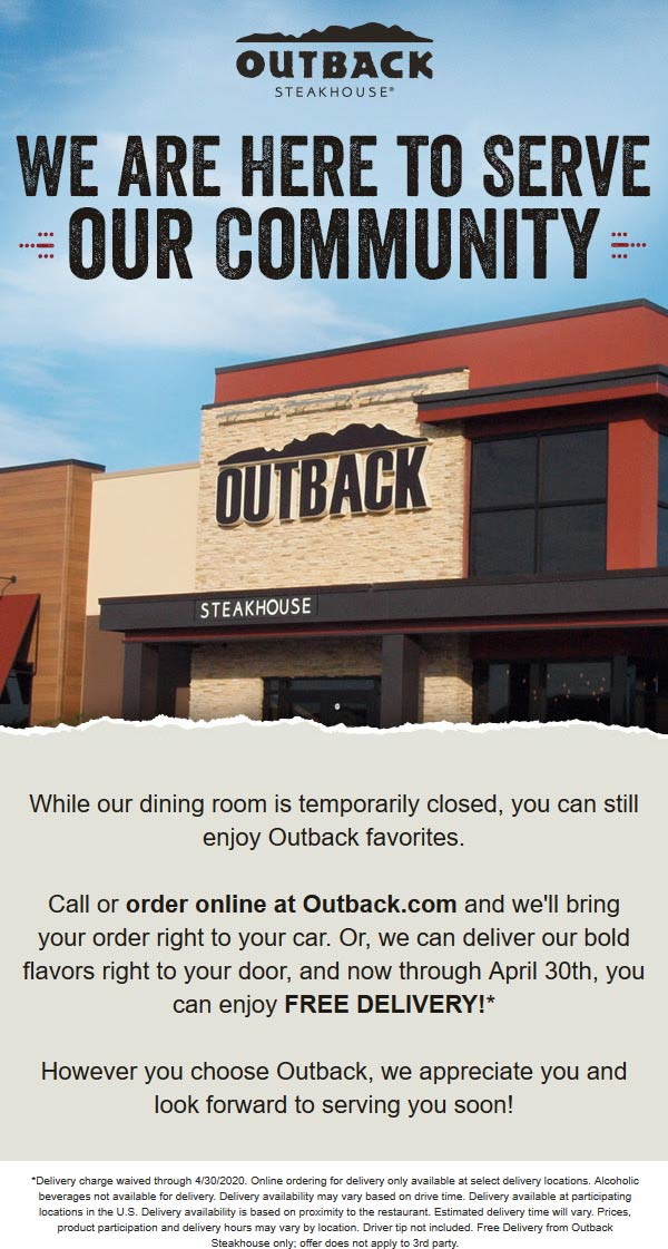 Outback Steakhouse coupons & promo code for [May 2021]