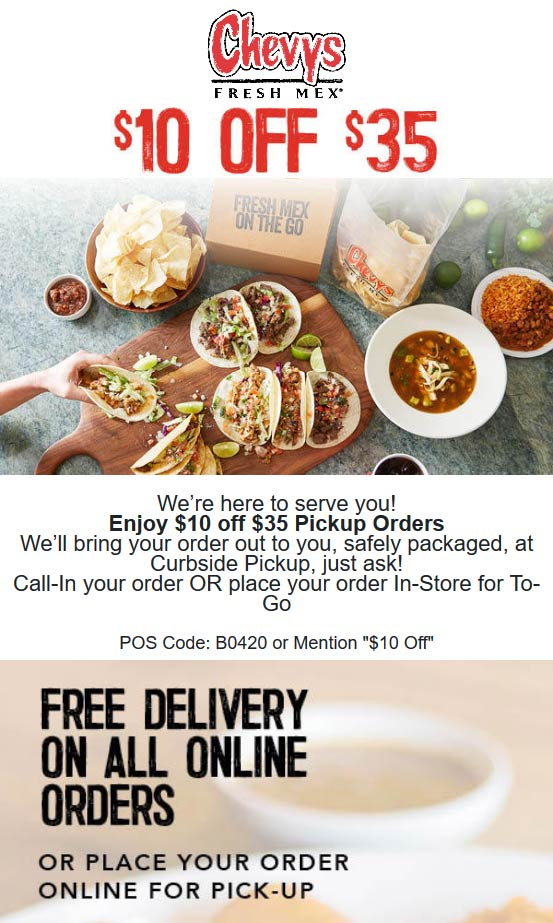 Chevys coupons & promo code for [December 2020]