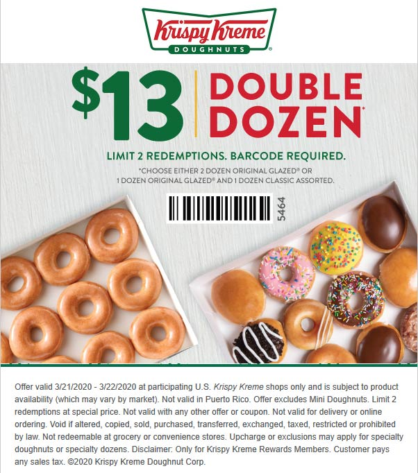 Krispy Kreme coupons & promo code for [January 2021]