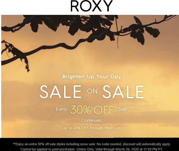 Roxy coupons & promo code for [July 2020]