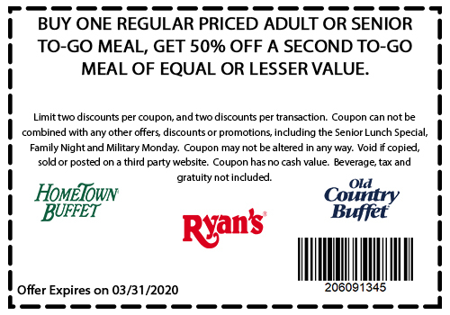 Old Country Buffet coupons & promo code for [July 2020]