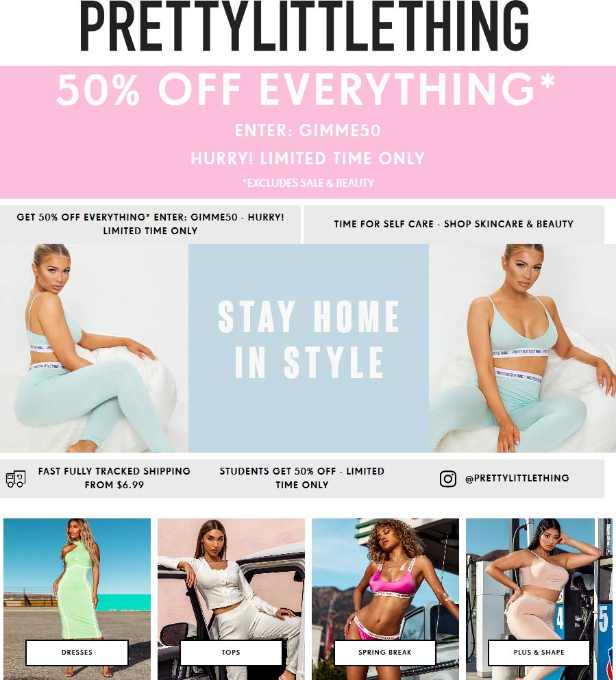 PrettyLittleThing coupons & promo code for [January 2021]