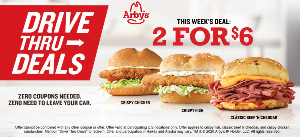 Arbys coupons & promo code for [April 2020]