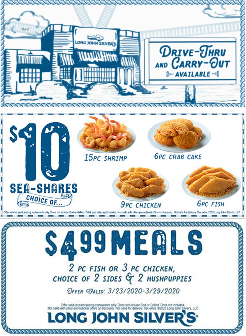 Long John Silvers coupons & promo code for [October 2020]