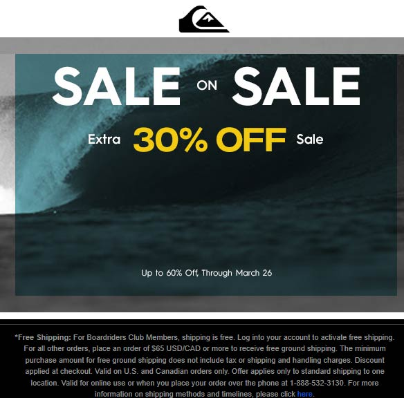 Quiksilver coupons & promo code for [April 2020]