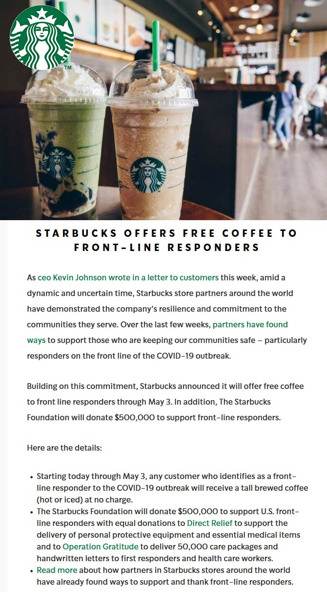 Starbucks coupons & promo code for [January 2021]