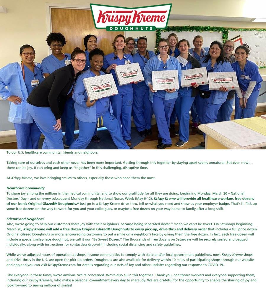 Krispy Kreme coupons & promo code for [October 2020]