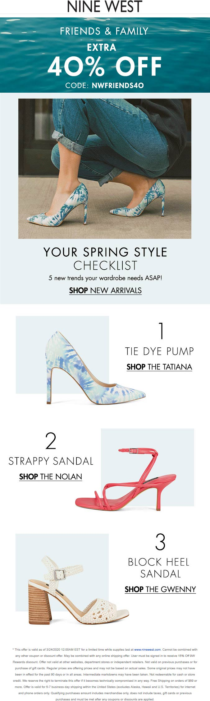 Nine West coupons & promo code for [April 2021]